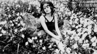 Sehr dekorativ wie ihre Heldinnen: Eine sehr jugendliche Zelda Fitzgerald im Blumenmeer.