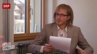 Weiß nicht, ob er das fragen darf: Michael Elsener als Frank-Walter Froschmeier beim Gespräch mit dem SVP-Nationalrat Claudio Zanetti