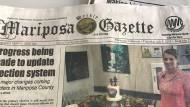 """""""All the News that's fit to print"""", sagte einst der """"New York Times""""-Verleger Adolph Ochs. Daran hält sich auch die """"Mariposa Gazette"""" und stellt selbstredend das Lokale voran."""