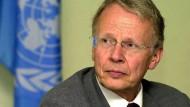 """""""Eine gute Zeit aufzuhören"""": Tom Koenigs, hier in seiner Rolle als UN-Sondergesandter"""