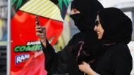 Frauen bei der ersten Comic-Con in Saudi-Arabien im Februar 2017
