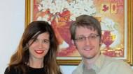 Angela Richter und Edward Snowden vor ein paar Wochen in Moskau