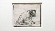 Bislang war die Zeichung mit der Inventarnummer 719 im Braunschweiger Herzog Anton Ulrich-Museum dem deutschen Tiermaler Johann Melchior Roos (1663-1731) zugeordnet worden.