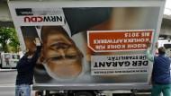 Abbau NRW: Nach der Wahl wurden heute die ersten Plakatwände abtransportiert