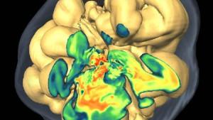 Simulierte Sternexplosion in drei Dimensionen