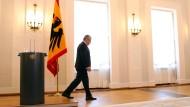 Gauck geht: Am Montag hat der Bundespräsident in Schloss Bellevue verkündet, dass er nicht für eine zweite Amtszeit zur Verfügung steht.