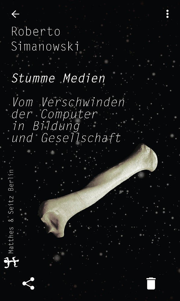 6d9d433b61 Roberto Simanowskis neues Buch Stumme Medien