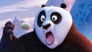 """Er ist zurück: Der beliebte Pandabär """"Po"""" ist im dritten Teil von """"Kung Fu Panda"""" wieder mal damit beschäftigt, das Böse zu bekämpfen."""