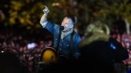 Er hatte es ja schon immer gesungen: Bruce Springsteen bei einer Wahlkampfveranstaltung für Hillary Clinton.