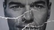 Der richtige Manager für das spanische Kuddelmuddel? Poster des Premierministers und Kandidaten der Sozialistischen Partei, Pedro Sanchez.