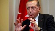 Der türkische Präsident Tayyip Erdogan in einem Gespräch in New York im September.