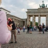 Ostansicht des Brandenburger Tors in Berlin