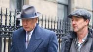 """Bruce Willis und Edward Norton am Rande der Dreharbeiten zu """"Motherless Brooklyn"""" in New York"""