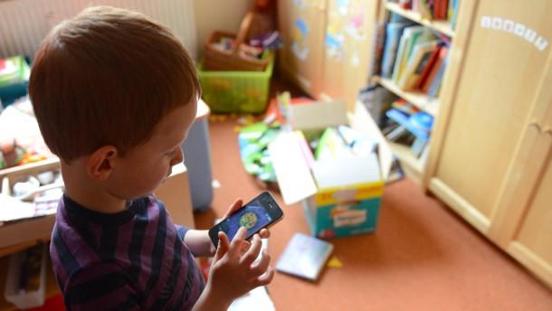 Jedes Kind Spielt Mit Stempel