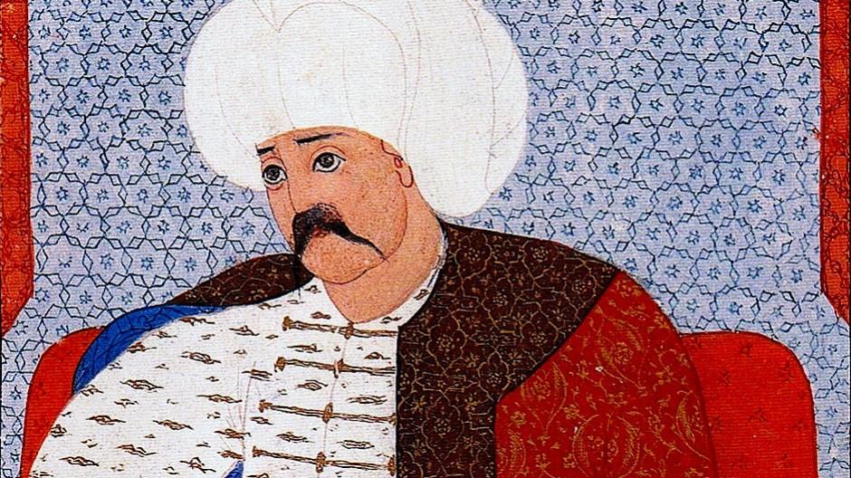 Er zerriss die Weltkarte in zwei Teile: Selim I. auf einer zeitgenössischen osmanischen Miniatur.