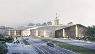 """Dieser von außen eher schlichte Bau ist der Sieger des Realisierungswettbewerbs """"Das Museum des 20. Jahrhunderts"""" in Berlin."""