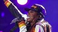 Eine der Heldinnen der Hauptfigur: Missy Elliott im Juli 2015 bei einem Konzert in New Orleans