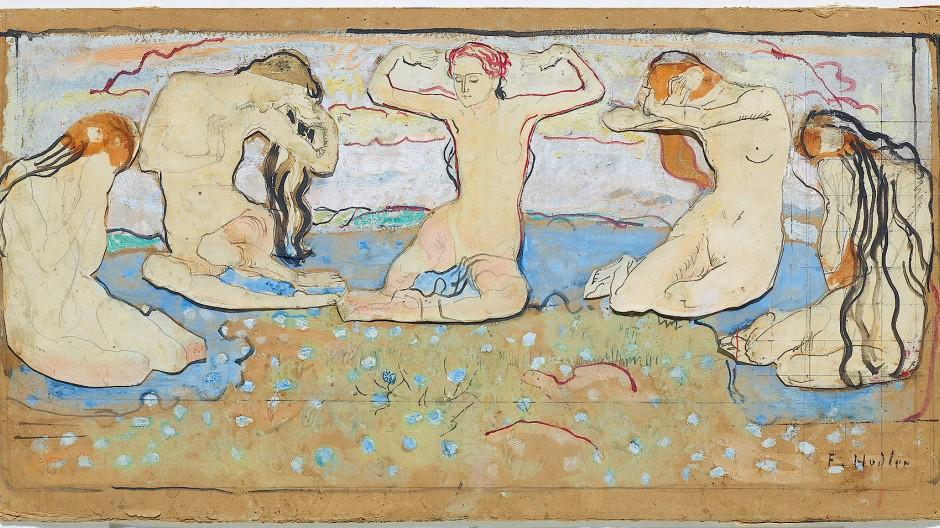 """Kompositionsentwurf  zu """"Der Tag"""" aus dem Jahr 1899"""