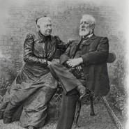 Jules Verne und seine Frau Honorine, 1905
