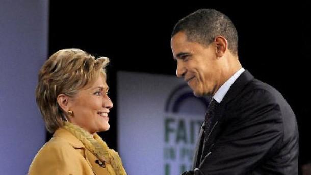 Hillary Clinton zieht für Obama in den Wahlkampf