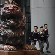 Schüler in Hongkong