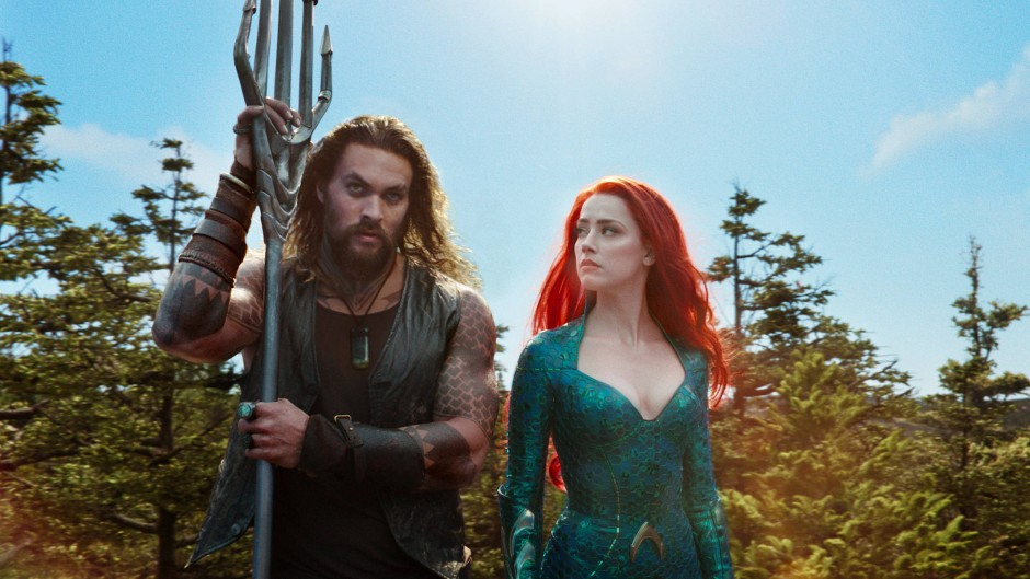 "Jason Momoa und Amber Heard in ""Aquaman"""