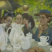 """Der Sonntag der arbeitenden Schichten: Baluscheks Gemälde """"Hier können Familien Kaffee kochen"""" von 1895"""