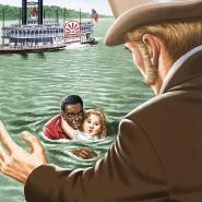 Der entmenschlichte Schwarze: Onkel Tom rettet die kleine Eva St. Clare aus dem Fluss und bringt sie sicher zu ihrem Vater. Der drückt seine Dankbarkeit aus, indem er Tom kauft.