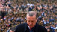Erdogan beim Besuch des Mausoleums für Kemal Atatürk in Ankara
