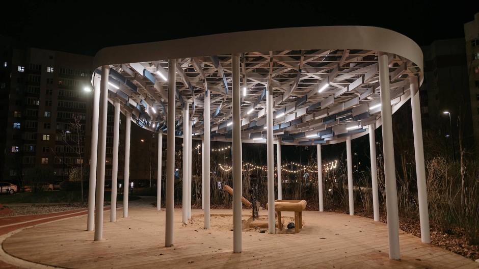 Teil einer neuen Parkanlage in Kazan