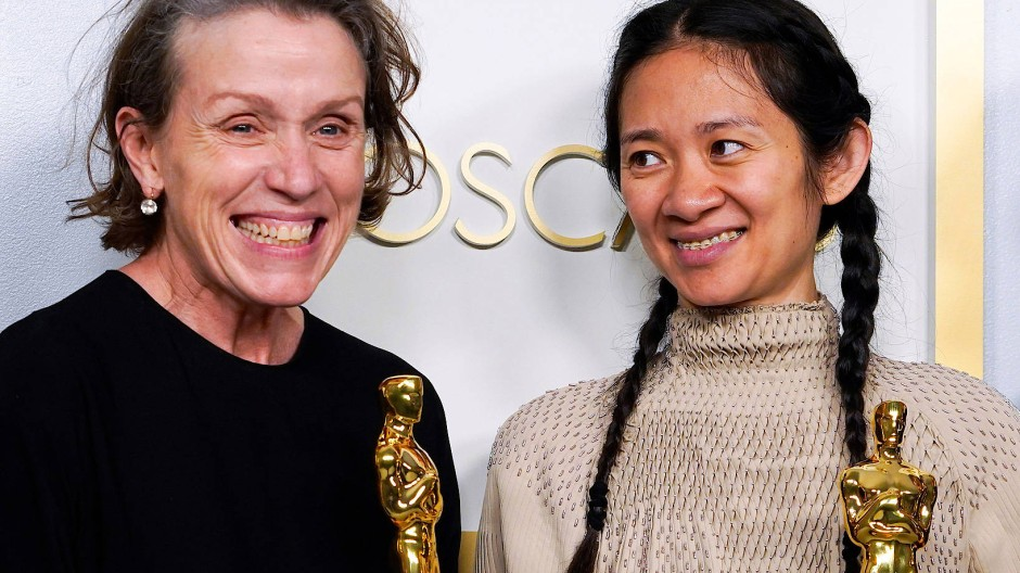 """Der Oscar für die beste Hauptdarstellerin in """"Nomadland"""" ging übrigens an Frances McDormand."""