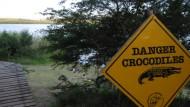Achtung, Krokodil! Ein südafrikanischer Nationalpark warnt vor gefährlicher Fauna