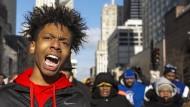 Proteste gegen Waffengewalt in Chicago am 31. Dezember. Seitdem sind über siebenhundert Menschen durch Schusswaffen verletzt oder getötet worden.