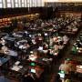 Ein Idyll: Leipziger Lesesaal der Deutschen Nationalbibliothek im  Februar 2009