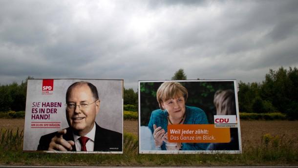 Bundestagswahl 2013 - Steinbrück und Merkel