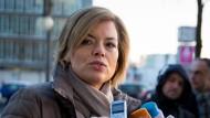 Julia Klöckner vor der CDU-Parteizentrale