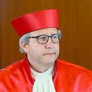 Andreas Voßkuhle, Vorsitzender des Zweiten Senats beim Bundesverfassungsgericht, nach der Urteilsverkündung zu milliardenschweren Staatsanleihenkäufen der Europäischen Zentralbank am 5. Mai