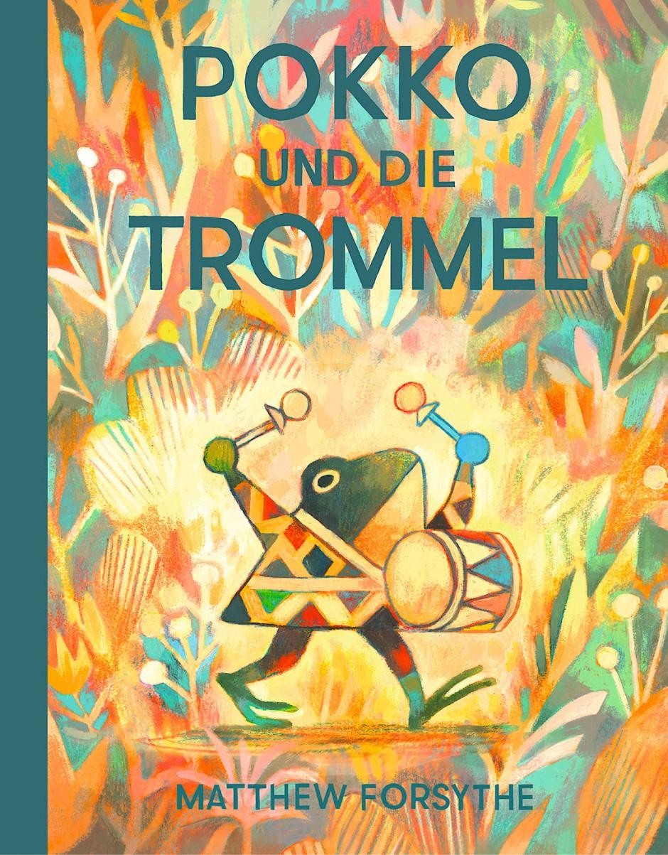 """Matthew Forsythe: """"Pokko und die Trommel"""". Aus dem Englischen von Rita Fürstenau. Rotopol Verlag, Kassel 2020. 64 S., geb., 18,– €. Ab 4 J."""