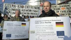 Demonstration für gemeinsames Sorgerecht