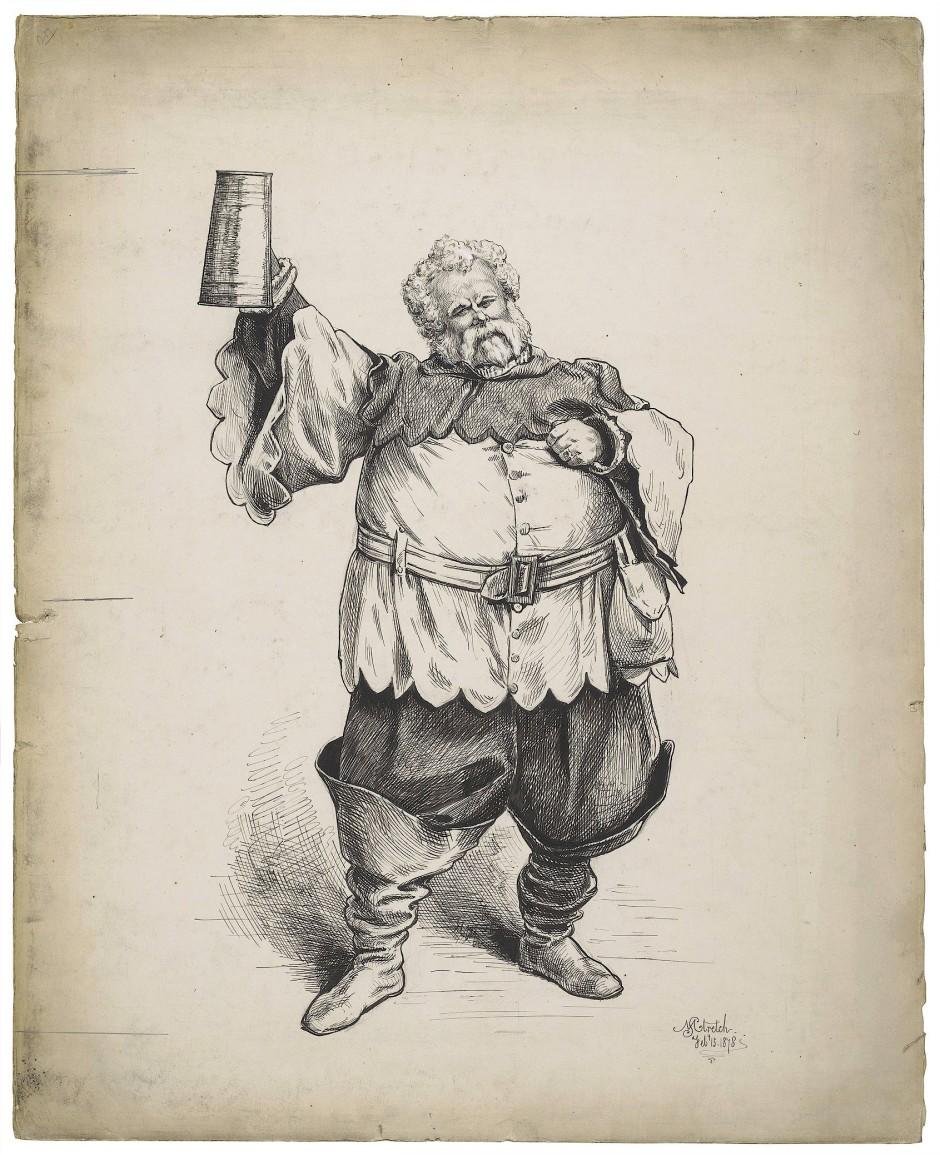 Thomas Aynsley Cook als Falstaff, 1878