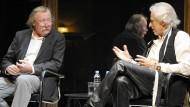 Zwei Langhaarriesen: Peter Sloterdijk (links) und Thomas Gottschalk