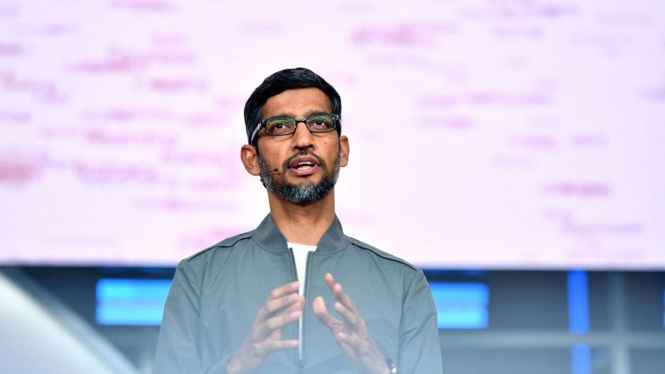 Meldet gute Zahlen: Google-Chef Sundar Pichai