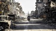 Raqqa nach der Eroberung durch die kurdischen Truppen am 20. Oktober