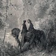Weil das Abenteuer hinter jeder Ecke lauert, ist ein Ritter gut beraten, wenn eine Frau ihm beisteht, wie Gustave Doré weiß.