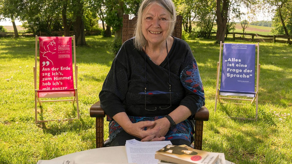 Ihre Lesung kam aus dem heimatlichen Garten in Mecklenburg: Helga Schubert