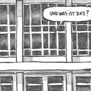 "Bei der Gepäckkontrolle: Szene aus Guy Delisles Graphic Novel ""Pjöngjang"""