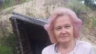 """Das ukrainische """"Stalingrad"""": Natalja Pawlowna Sch. hat selbst mitgeholfen, diese Befestigungen zu bauen."""