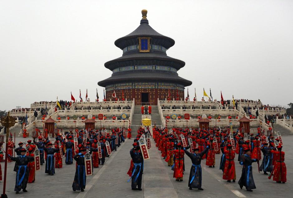 Frühlingsfest vor dem Himmelstempel in Peking