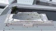 Die Einheit von oben: Denkmalsentwurf des Stuttgarter Büros Milla und Partner