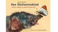 """Rudyard Kipling: """"Das Elefantenkind"""". Wie der Elefant zu seinem Rüssel kam ... Illustriert von Jonas Lauströer. Minedition, Bargteheide 2018. 60 S., geb., 18,– Euro. Ab 6 J."""